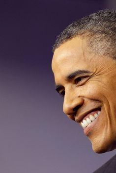 President Barack Obama. Our happy warrior.