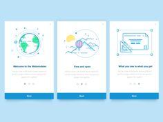 Onboarding cards - Webmodeler