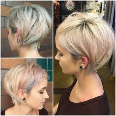 Love this cut! Growing out from a pixie while still keeping the cut edgy.