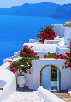 Yet another beautiful picture of Santorini, Greece. Canaves Oia Hotel.