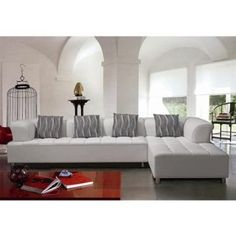 1000 Images About White Living Room On Pinterest White Leather Sectionals