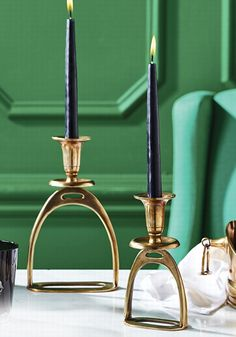 Kentucky Proud Events info@warrenwoodmanor.com Stirrup Candle Holders from Horse & Hound