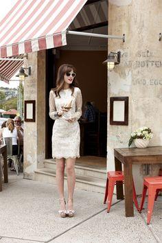 Jayson Brunsdon 'Duchess' short lace dress with long sleeves. Gorgeous!