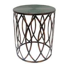 Picture of Metal Glam Drum Table 15x18-in