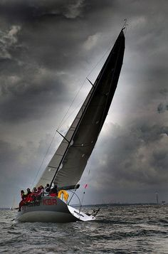 Sunlight behind the sail By Keith Allso on Flickr