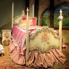 I am going to fix up my mother's dollbed from the 30s like this and make a doll to go with it!