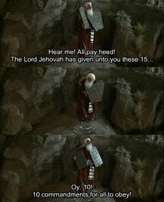 """Mel Brooks as Moses in """"History of the World (Part 1)"""""""