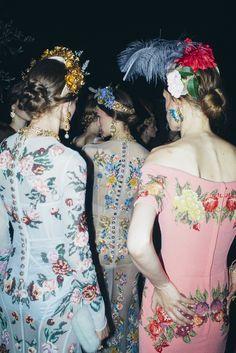 Backstage at Dolce & Gabbana Alta Moda