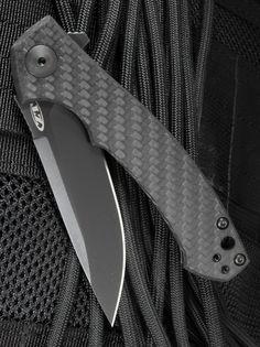 Zero Tolerance ZT 0450CF Sinkevich Carbon Fiber KVT EDC Folding Pocket Knife Blade, Black