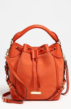 Burberry Grainy Leather - Small Drawstring Crossbody Bag available at bags purses handbags Cute Handbags, Best Handbags, Beautiful Handbags, Beautiful Bags, Fashion Handbags, Purses And Handbags, Fashion Bags, Coach Handbags, Cuir Orange