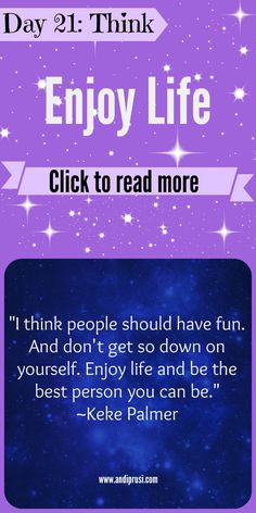 Be yourself and enjoy life. LIKE, COMMENT and RE-PIN if this article gave you some positive inspiration.