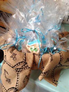 Basket of beach themed decorated butter cookies