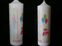 Birthday Candle - Till - Name Geburtstagskerze Paraffin Candles, Scented Candles, Pillar Candles, Personalized Candles, Handmade Candles, Crystal Snowflakes, Amelie, Christening, Birthday Candles