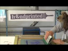Fletcher , Handprinted's amazing Screen Printing Dog! Watch Fletcher screen print his own t shirt and then model it | Handprinted