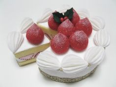 Felt Food White Cake - Pretend Play Food - Fake Cake - Tea Party Felt Cake - Toy Food. $55.00, via Etsy.