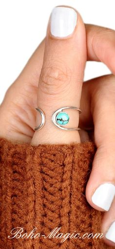 Boho rings Women Sterling Silver Ring wanderlust bohemian jewelry cuff ring statement rings unique silver rings simple ring handmade rings Turquoise ring Turquoise jewelry western jewelry southwest jewelry southwest boho fashion wanderlust un Bohemian Jewelry, Silver Jewelry, Gemstone Jewelry, Jewelry Rings, Silver Earrings, Jewellery Box, Jewellery Shops, Silver Bracelets, Jewelry Stores