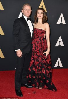 Date night: Daniel Craig and Rachel Weisz wowed at the Governors Awards in Los Angeles on November 14, 2015