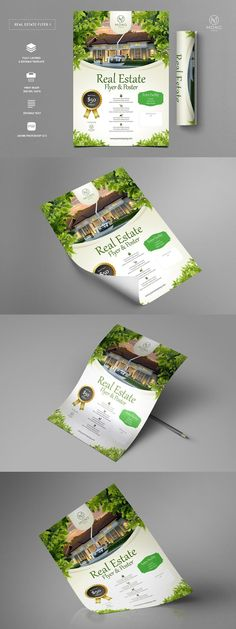 Premium Real Estate Flyer 1 - Hello! Are you looking for Real Estate Flyer 1? Promote your business or event with this flyer. This flyer created with precision for high-quality color output, our templates look great. Premium Real Estate Flyer 1 - Premium Real Estate Flyer 1 (Size : A4 + bleed) - These item support in psd File and everything is 100% ready to print and well organized in layers. - You can easily change everything like color, image, text... Adobe Photoshop, Photoshop Actions, Real Estate Flyers, Google Drive Logo, Flyer Poster, Free Logo, Psd Templates, Lightroom Presets, Business Flyer