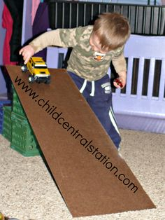 Hardboard Racing Ramps! | Child Central Station, #ece, #preschool, #kids,  Fun explorations with ramps made from scrap hardboard.