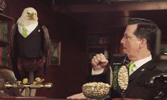 When he fist-bumped a bald eagle: | 12 Times Stephen Colbert America'd Harder Than Everyone Else