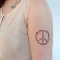 simbolo da paz tattoo feminina - Pesquisa Google