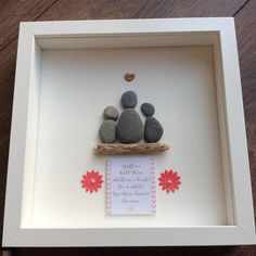Pebble Art Mother picture Mother's Day gift gift for Xmas Presents For Mum, Gifts For Nan, Mothers Day Presents, Mother Day Gifts, Grandmother Birthday, Grandmother Gifts, Mum Birthday Gift, Diy Birthday, Pebble Pictures