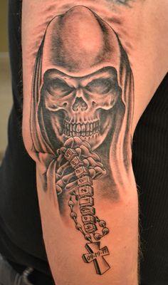 Grim Reaper tattoo by Dustin Cameron