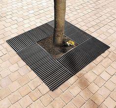 Galvanized steel tree grate BASIC Concept Urbain
