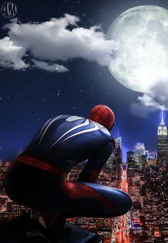 Marvel Art, Marvel Dc Comics, Marvel Heroes, Marvel Avengers, Amazing Spiderman, Spiderman Spider, Batman Begins, Superhero City, Superhero Villains