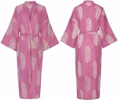 Paisley White on Pink dressing gown fits sizes by SusannahCotton, Pink Dressing Gown, Weeks Until Christmas, Christmas Gift Guide, Christmas 2015, Best Gifts For Her, Little Black Books, Paisley, Kimono Top, Gowns