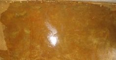 How to stain concrete with iron sulfate.  This technique was used in the Urbanite pin.