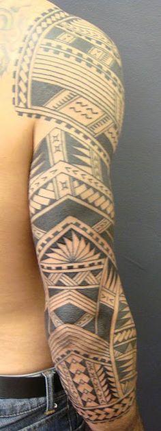 MAORI POLYNESIAN TATTOO: Samoan Polynesian Sleeve Tattoo