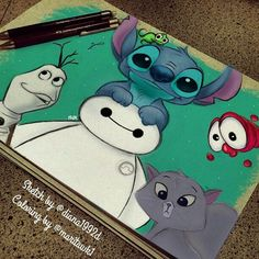 congratulations to @ she did a great job and she is . congratulations to @ she did a great job and she is a great artist, please foll Disney Character Drawings, Disney Drawings Sketches, Cute Disney Drawings, Pencil Art Drawings, Cool Art Drawings, Kawaii Drawings, Cartoon Drawings, Disney Canvas Art, Disney Collage