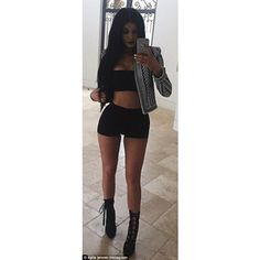 Kylie Jenner, 17, steps out in inappropriate getup for dinner ❤ liked on Polyvore featuring accessories