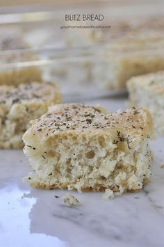 Blitz Bread is an easy way to create delicious homemade bread. Made in a 9 x 13 it is quick and easy and delicious every time.