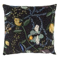 Bugs blacvk - cushioncover velvet  #nordicdesigncollective