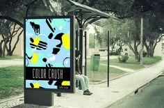 90s Color Crush | Mock-up Billboard | Lotta Lorier Design