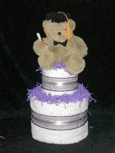 Unique Towel Cakes | GRADUATION TOWEL CAKE - WESTFIELD DIAPER GIFTS