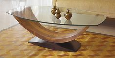 Arc Coffee Table by Enrico Konig: Wood Coffee Table available at www.artfulhome.com