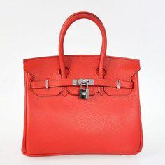 3b43d78206 Hermes Birkin Bags > H25LSFS Hermes Birkin 25CM clemence leather in Flame  with Silver hardware Hermes