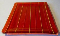 Jolly Rancher Deep Orange Artisan Fused Glass by SilverBreezes, $40.00