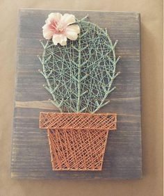 The best 10 cactus String Art DIY ideas, easy and funny projects to decorate your home. Fun Crafts, Diy And Crafts, Arts And Crafts, Room Crafts, Adult Crafts, Decor Crafts, String Art Diy, String Crafts, Decoration Cactus