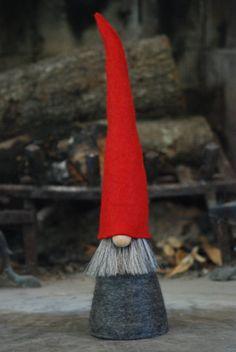 Nordic Gnome a Scandinavian Tomte handmade in all por NordicGnomes