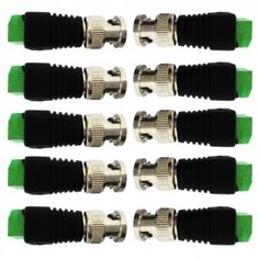 BNC Male to AV Screw Terminal Block Adapter 10pcs kit for CCTV/DVR/AV Devices