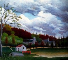 The Bievre at Gentilly by Henri Rousseau Medium: oil on canvas