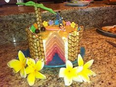 luau baby shower ideas delicious luau baby shower cake love the pink umbre layers