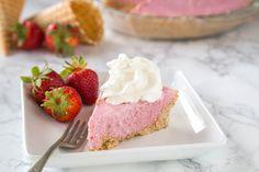 Strawberry Milkshake Pie. I wonder if non dairy milk would work for this?