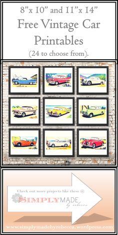Pinterest pic cars printable