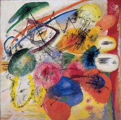 Reproduction de Kandinsky, Black lines I - Lignes noires I. Tableau peint à la main dans nos ateliers. Peinture à l'huile sur toile.