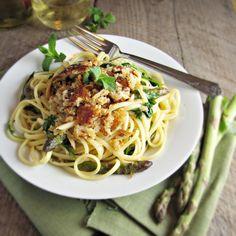 Asparagus, Arugala, Linguine